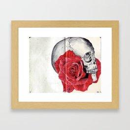SkullRose Framed Art Print