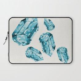 Falling Crystals - Aqua Laptop Sleeve