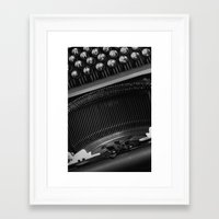 typewriter Framed Art Prints featuring Typewriter by Falko Follert Art-FF77