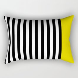 Liquorice allsorts, yellow Rectangular Pillow