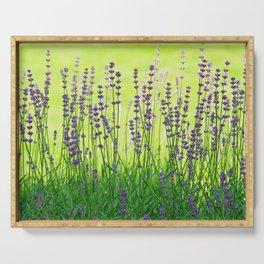 Lavender Pattern Serving Tray