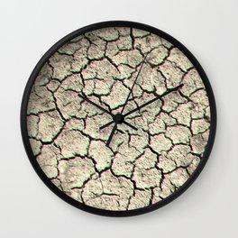 Glitchy desert Wall Clock