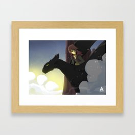 How to train your dragon art Framed Art Print