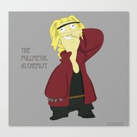 fullmetal alchemist Canvas Prints featuring Ed, The Fullmetal Alchemist by DeMiOrreh
