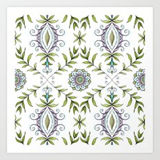 Nature's Damask Art Print