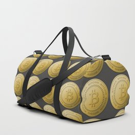 Gold Bitcoin Logo Symbol The Future is Now Duffle Bag