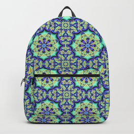 A touch of Spring, fantasy flower pattern design Backpack