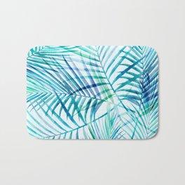 Tropical Palm Pattern Bath Mat