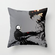 Skullz Slicer Throw Pillow
