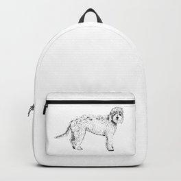 Labradoodle/Goldendoodle Ink Drawing Backpack