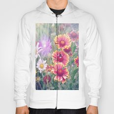 Multi Coloured Flowers with Bee Hoody