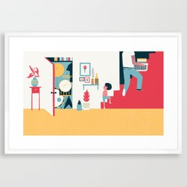 Stairs - (My Dad Used To Be So Cool) Framed Art Print