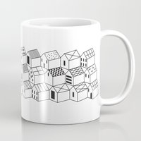 architect Mugs featuring Architect and Little Houses by lllg