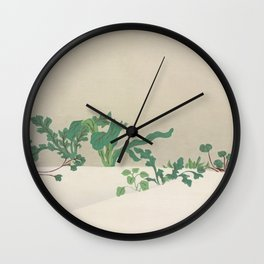 Kamisaka Sekka - Green plants from Momoyogusa Wall Clock