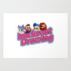Backseat Drawing Logo Art Print