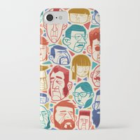 faces iPhone & iPod Cases featuring Faces by Lawerta