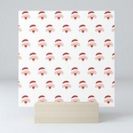 Find the hidden Santa (Patterns Please) Mini Art Print