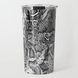 Black & White Snakeskin  Travel Mug