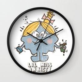 Lil' Miss Anxiety Wall Clock