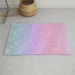 Unicorn Princess Glitter #1 (Photography) #pastel #decor #art #society6 Rug