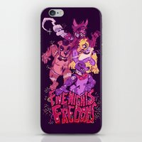 fnaf iPhone & iPod Skins featuring Five Nights at Freddy's by Camille Dion-Bolduc