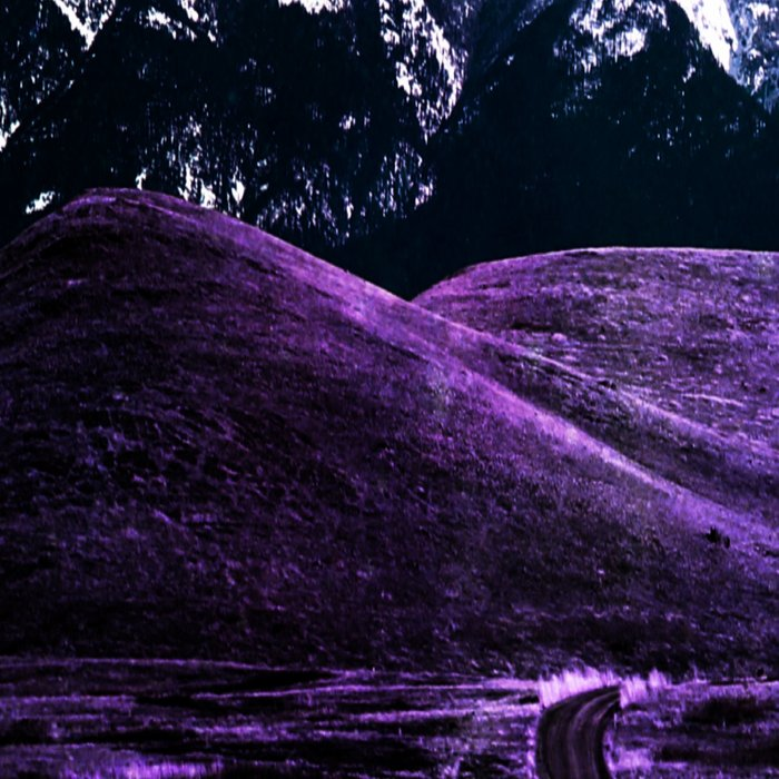 Highway to Eternity (moon mountain) violet Leggings