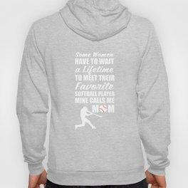 Favorite Softball Player Calls Me Mom T-Shirt Hoody