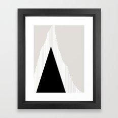 Abstract Mountain Framed Art Print