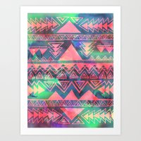techno Art Prints featuring Techno Native by Schatzi Brown