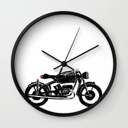 Untitled motorcycle drawing Wall Clock