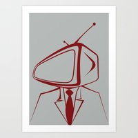 tv Art Prints featuring Television by Shkvarok