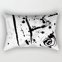 Minimalist Abstract Modern Art Ink Splatter Rectangular Pillow