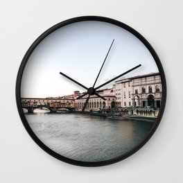 Ponte Vecchio in Florence Wall Clock