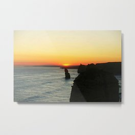Sunset over the Great Southern Ocean Metal Print