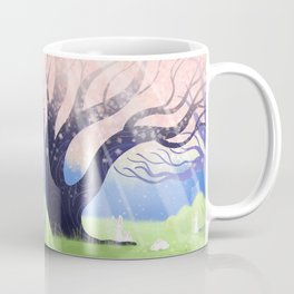 Soft Light On Soft Hares In Aloquil's Glades Coffee Mug
