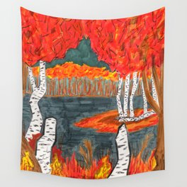 Autumn Landscape Wall Tapestry