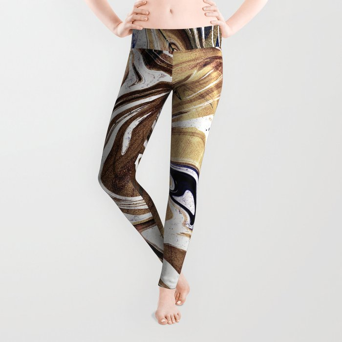 Liquid Bronze and Marble Leggings