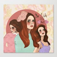 lana Canvas Prints featuring Lana by Clementine Petrova