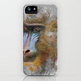 Artistic Animal Mandrill iPhone Case