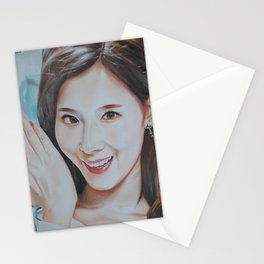 Minatozaki Sana Colour Pencil Drawing Art | Xszone Stationery Cards
