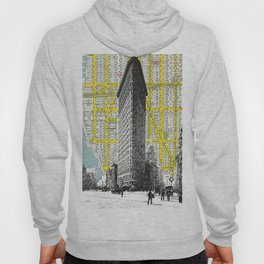 Flatiron Building - NYC Map Background Landmark urban city decor Hoody