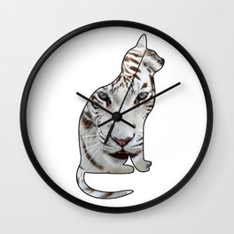 WHITE CATS Wall Clock