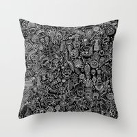 doodle Throw Pillows featuring Doodle by AITCH