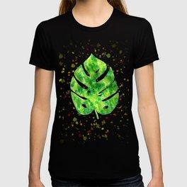 Tropical Monstera Leaves Unique Pattern T-shirt