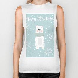 Cute Polar Bear Mint Biker Tank