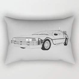 DeLorean DMC-12 Rectangular Pillow