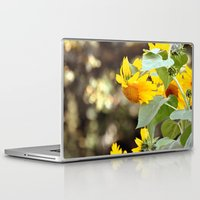 sunflowers Laptop & iPad Skins featuring SUNFLOWERS :) by Teresa Chipperfield Studios