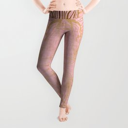 Paris Royal Gold Antique Leggings