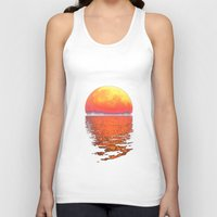 moonrise Tank Tops featuring Moonrise by Tobias Bowman