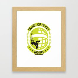 Globe of Death Framed Art Print